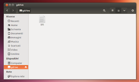 GDrive in Ubuntu