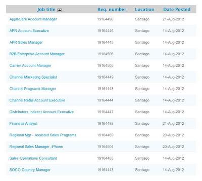 Apple oferta importantes puestos de trabajo en Chile