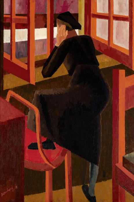 At the Window by Bomberg, David. 1919. © Ben Uri