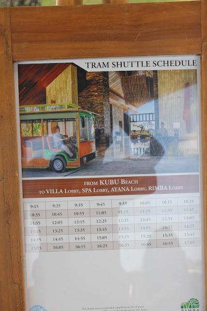 ayana tram shuttle schedule