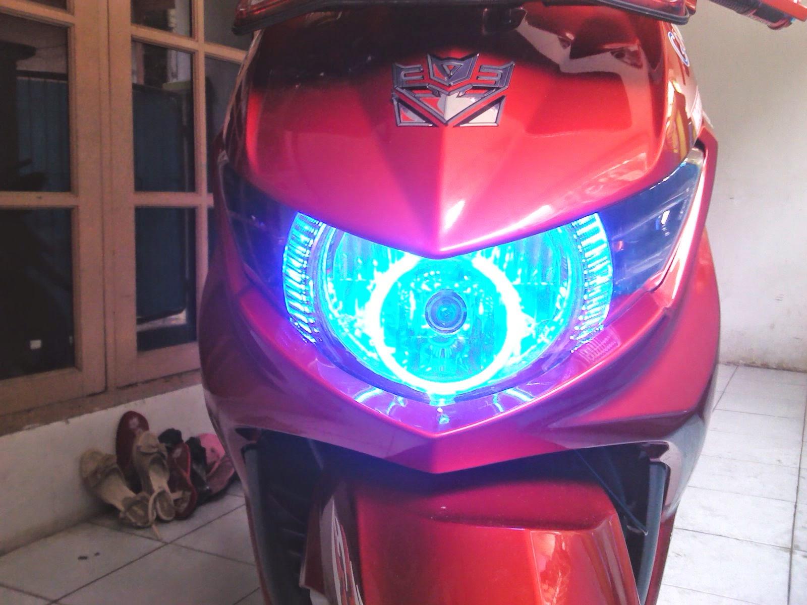modifikasi lampu vixion
