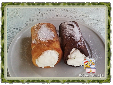 Cannolis tradicional e de chocolate 1