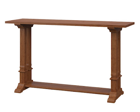 Tuscany Sofa Table in Itasca Maple