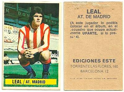 At. Madrid - Ediciones ESTE 74/75 Leal (Coloca)