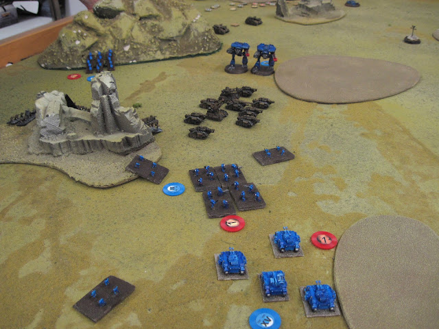 Terminators, Annihilators and Warhounds beat up on some Russes.