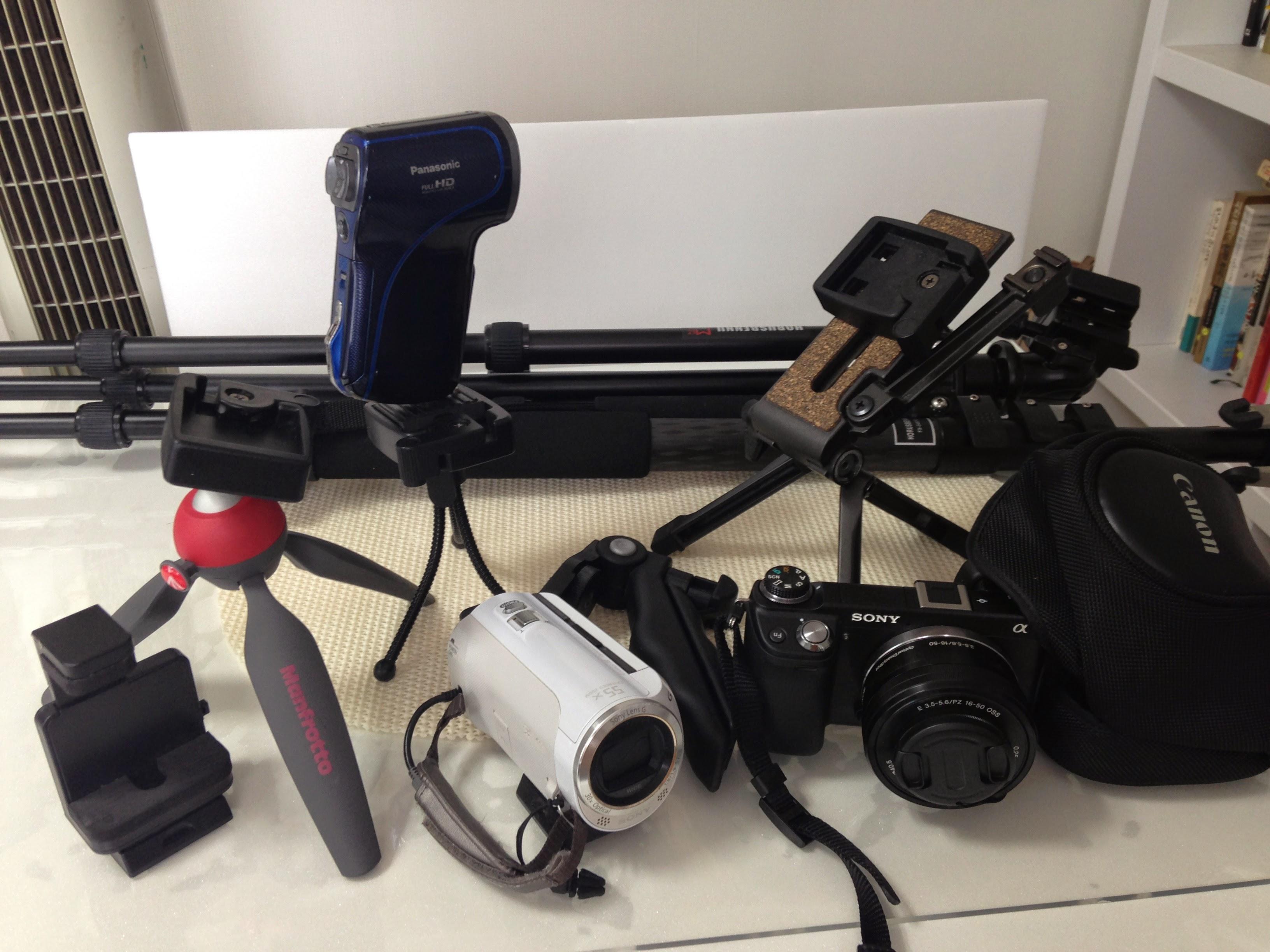 카메라와 캠코더, 삼각대의 연결을 편리하게 하는 방법
