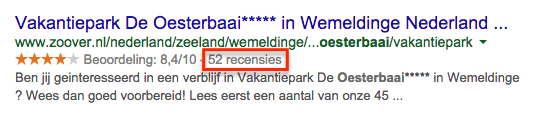 Zoover reviews van de Oesterbaai