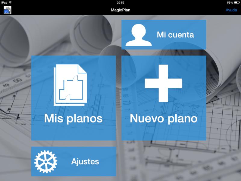 Apps de Construcción | Menú inicio de MagicPlan