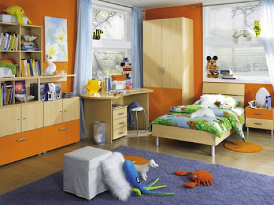04%252520orange children playroom kids room bedroom decorating Tren Warna 2012: Oranye