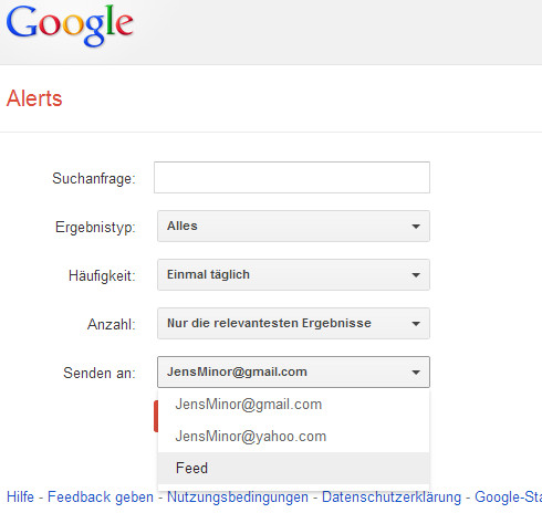 Google Alerts Feeds