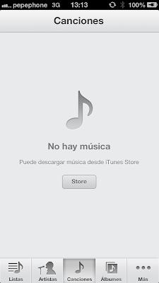 No hay música - Iphone 5