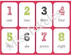 Set de números en inglés y signos matemáticos