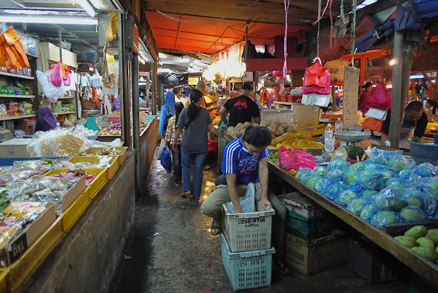 aisle at Bazaar Baru Chow Kit in Kuala Lumpur, Malaysia