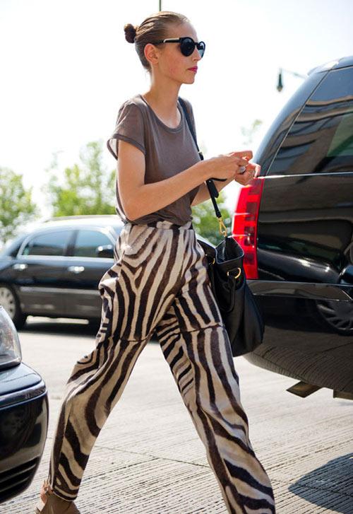 Inspiração zebra - calça