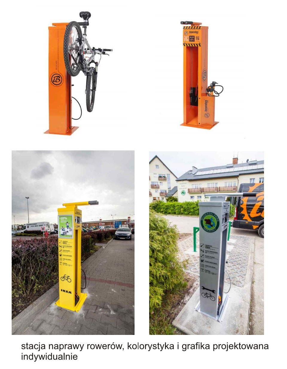 Stacja naprawy rowerów - samoobsługowa