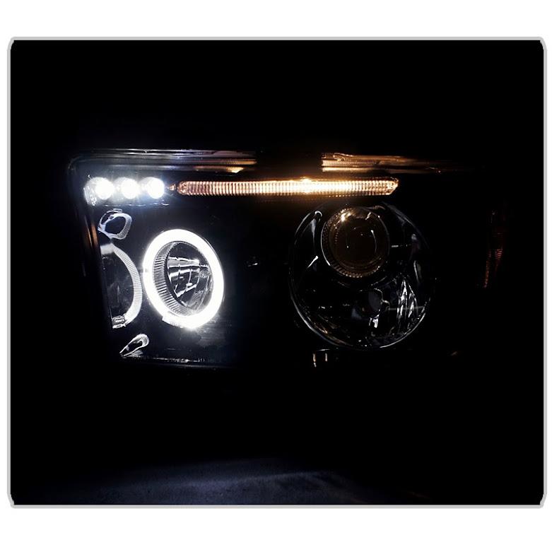 Hid Xenon   07-13 Toyota Tundra    Sequia Angel Eye Halo  U0026 Led Projector Headlights