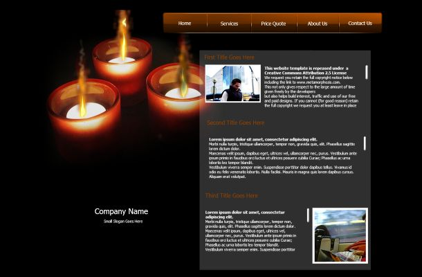 Candle Fire Effect Black Flash Theme Template