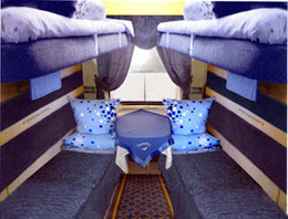 Ukrainain train second class