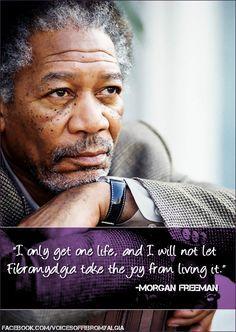 Morgan Freeman on fibromialgia