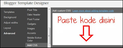 add css,designer blogger template,advanced