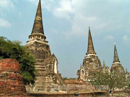 Three chedis near Wat Phra Si Sanphet, Ayutthaya