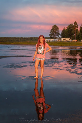 Mirrored One Direction - and a sunset. Photographer Benny Høynes