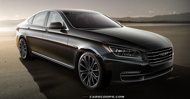 future cars hyundai 39 s all new 2014 genesis sedan comes into focus. Black Bedroom Furniture Sets. Home Design Ideas