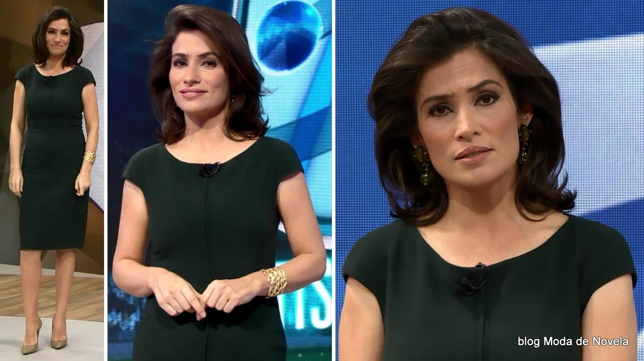 moda do programa Fantástico - look da Renata Vasconcellos dia 11 de maio