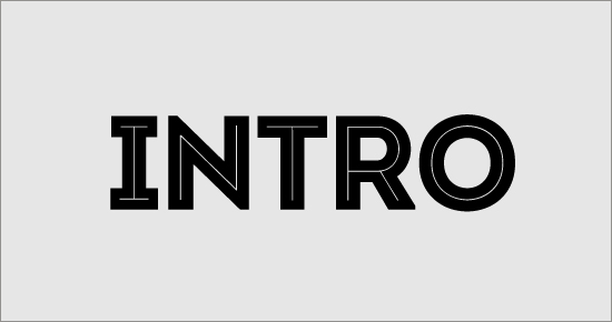 "Free Font ""Intro"" Sample"