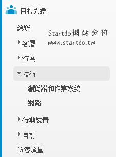 目標對象技術-startdo網站分析