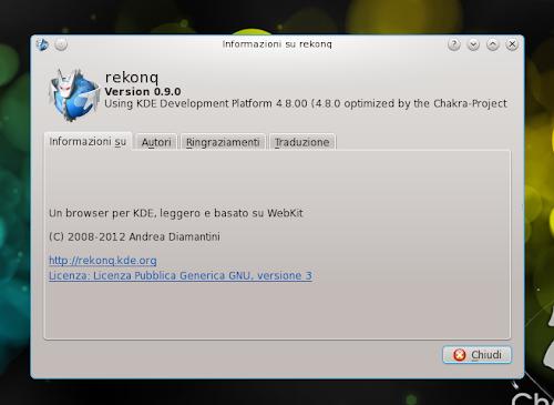 Rekonq 0.9.0