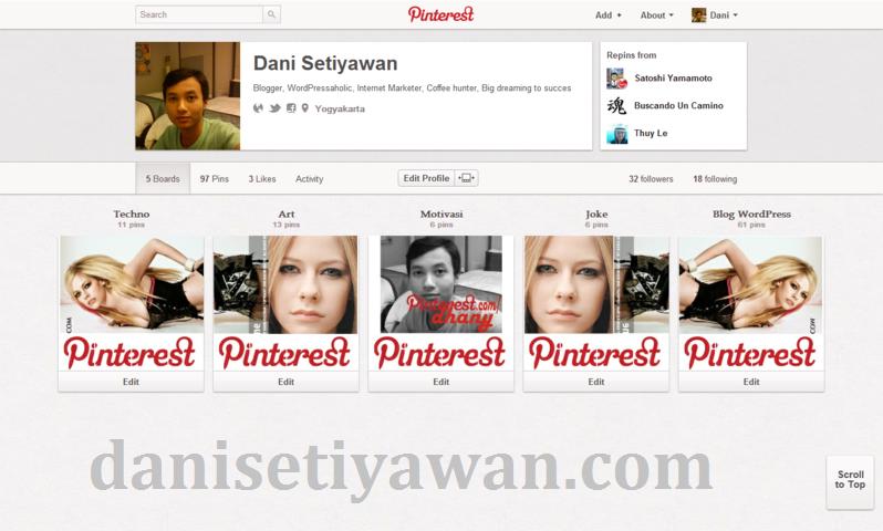Desain Unik Profil Pinterest