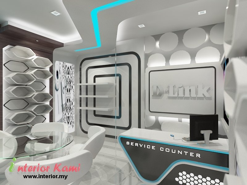 Computer shop interior design