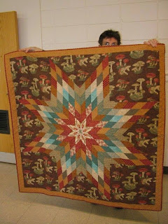 Mary's lone star quilt she made for her son (lucky son!)