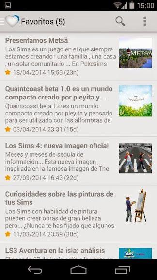 Favoritos app