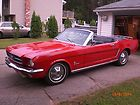 1965 ford mustang convertible sharp red 6 cyl automatic clean car