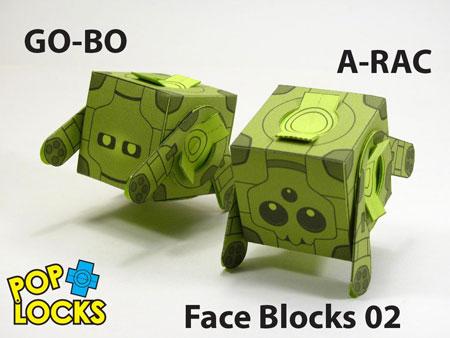 GO-BO A-RAC Poplock Paper Toy