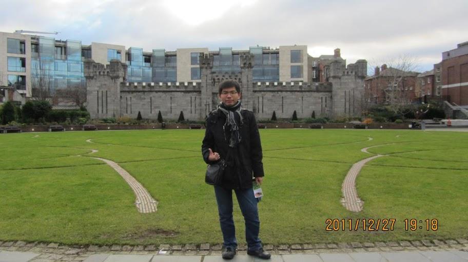 我在都柏林城堡花園