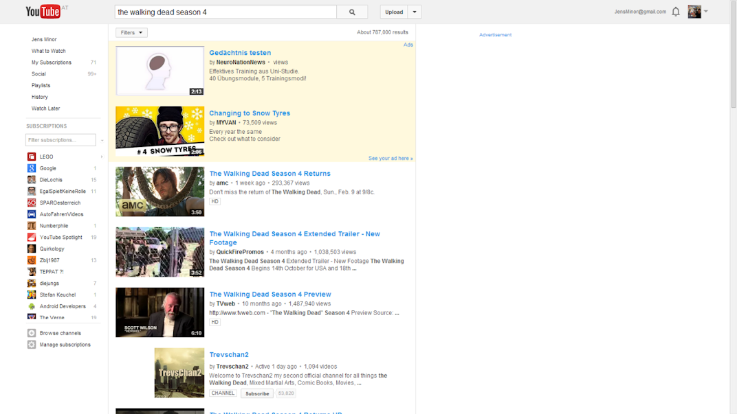 youtube search old