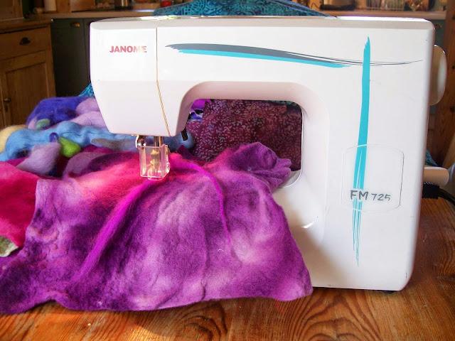Embellisher machine, Scottish artist Aileen Clarke