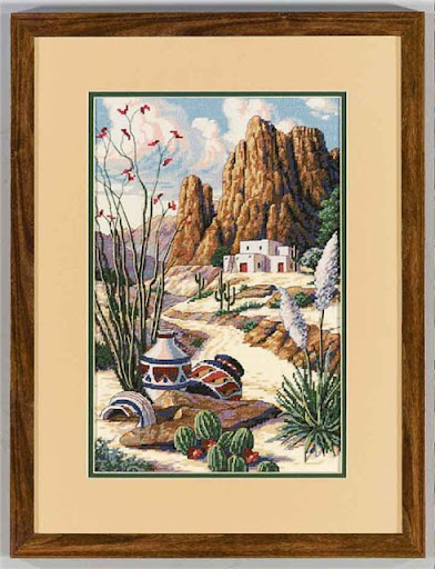 Southwest mesa cross stitch patterncross stitch pattern