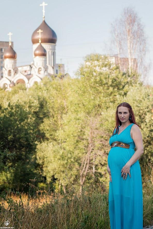 Фотосессия для беременных  в Москве на природе