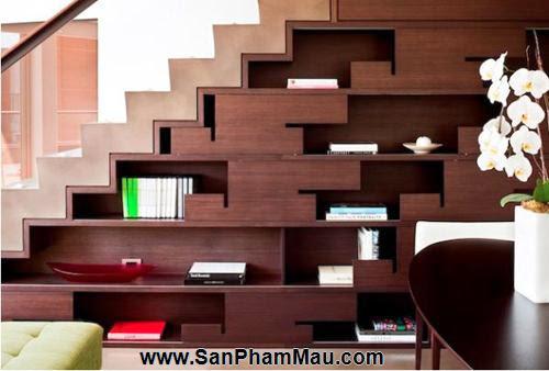 Mẹo thiết kế tủ cầu thang hữu ích - Tủ âm tường gỗ-6