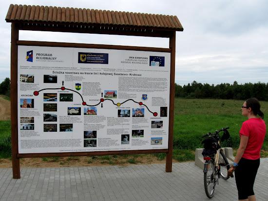 plan przebiegu ścieżki rowerowej