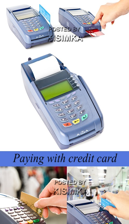 Stock Photo: Paying with credit card