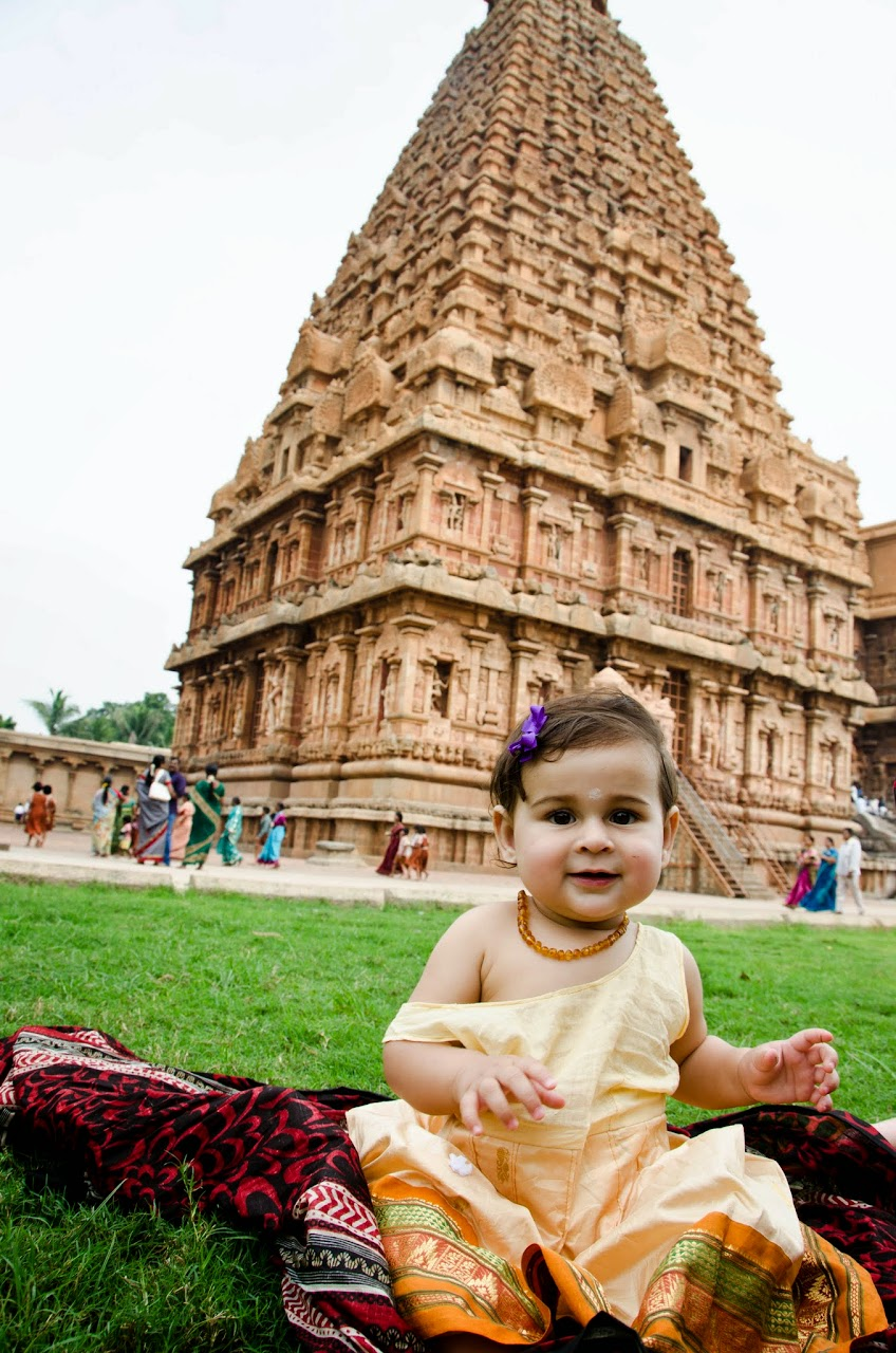 Amara at the Tanjore Temple