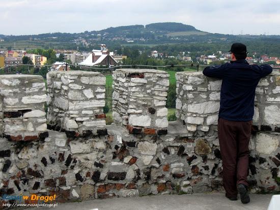 widok z wieży zamku Będzin