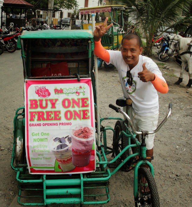 A Manila Pedicab and his owner