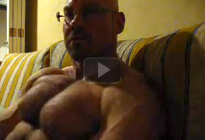 A Hairy Muscle Daddy Flexing