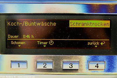 torktumlare, tvättstuga, tysk, schranktrocken